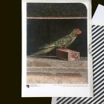 Papageien-Mosaik Staatliche Museen zu Berlin, Antikensammlung BU: Papageien-Mosaik, um 200-150 v. Chr.  Natursteine in verschiedenen Farben Foto: Johannes Laurentius