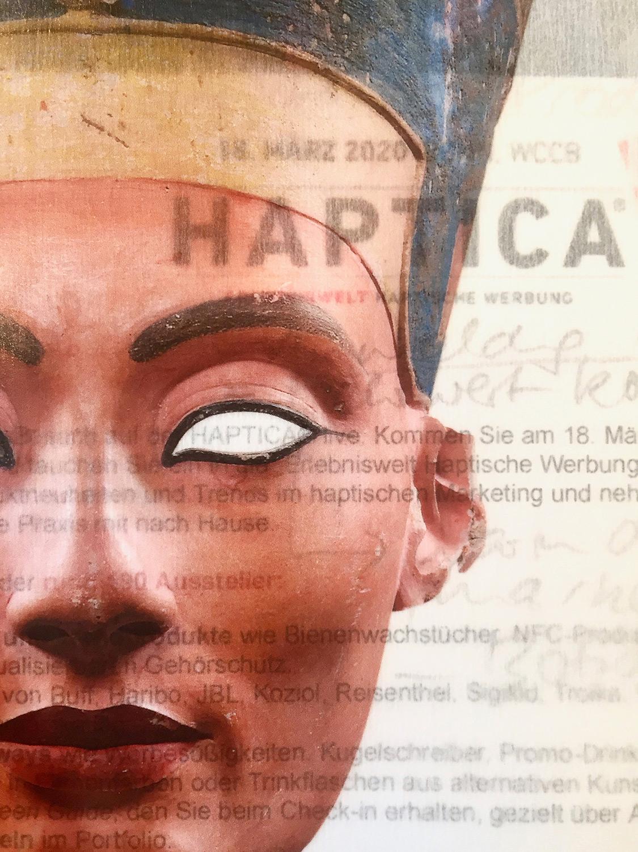 Nofretete Staatliche Museen zu Berlin, Ägyptisches Museum und Papyrussammlung BU: Büste der Königin Nofretete Neues Reich, um 1340 v. Chr.  Schenkung James Simon (1851-1932) Kalkstein, bemalter Stuck, Bergkristall, Wachs Foto: Sandra Steiß
